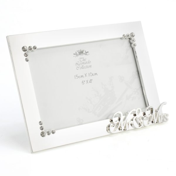Silver Plated Mr & Mrs Photo Frame