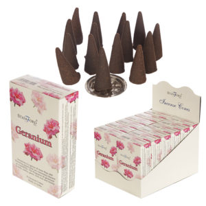 Stamford Hex Incense Cones - Geranium