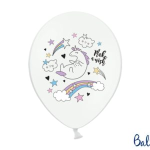Balloons 30cm, Unicorn, Pastel Pure White (1 pkt