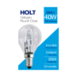 Halogen Clear Round Light Bulb 28wThis Halogen Clear Round Light Bulb lasts up to 2000 hours and is suitable for all lamp and light fixtures that require an E14
