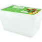 Freezer To Microwave Containers - 4 PackThis pack of Microwave to Freezer Storage Containers contains four individual containers that are  made from sturdy plastic and are freezer, microwave and dishwasher safe.   Each container is suitable for all food types and has a storage capacity of 1 litre.