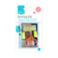 Sewing Kit - 21 PieceThis Sewing Kit features all the essential items for sewing and stitching everyday items.   Each kit contains:  • Seven sewing threads  • Three needles  • Two dressmaker pins  • Two safety pins  • Three buttons  • Scissors  • Tape measure  • Needle threader  • Thimble