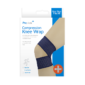 Compression Knee WrapThis Compression Knee Wrap is flexible, breathable and adjustable, and provides support and compression to knees to suit individual needs.  Each knee wrap includes an easy to fit, pre-positionable loop.  One size fits all.