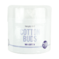 Cotton Buds - 200 PackThis tub of Cotton Buds contains two hundred double ended buds that are 7.6cm in length and have a diameter of 3mm.  Each separate bud has a plastic inner stick and two 100% cotton ends that are suitable for a variety of tasks.