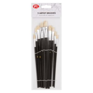 Artist's Paint Brush Set - 9 PieceArtist's Paint Brush Set - 9 Piece