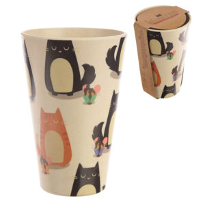 Bambootique Eco Friendly Cat Design Cup