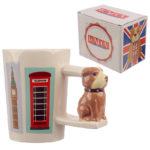 Collectable British Bulldog Shaped Handle Ceramic Mug