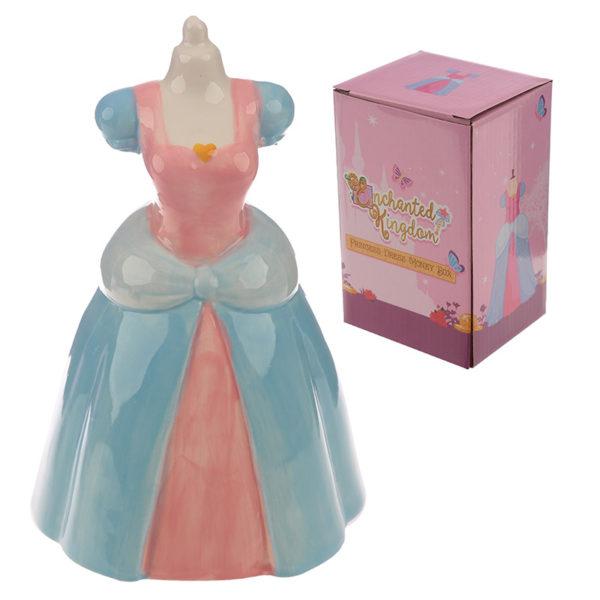Collectable Ceramic Princess Dress Shaped Money Box