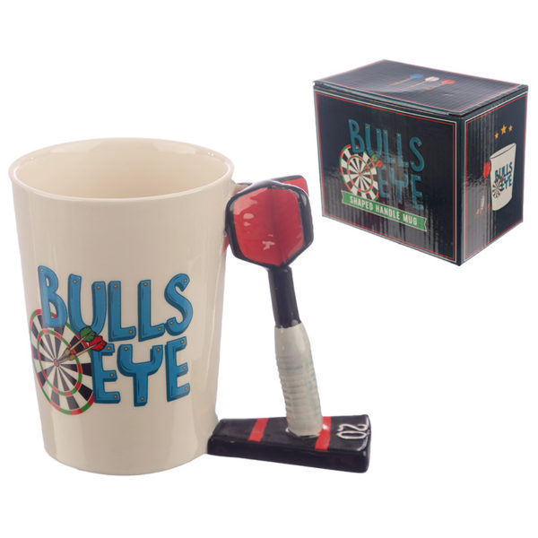 Collectable Dart Shaped Handle Ceramic Mug