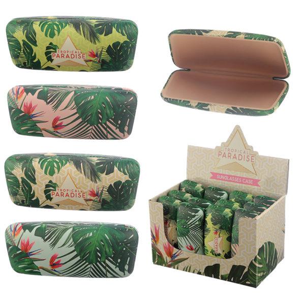 Fun Tropical Plant design Sunglasses Case