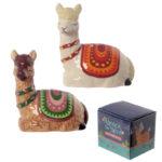 Fun Ceramic Alpaca Salt and Pepper Set