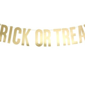 Banner Trick or Treat, gold, 12 x 80 cmBanner Trick or Treat, gold, 12 x 80 cm