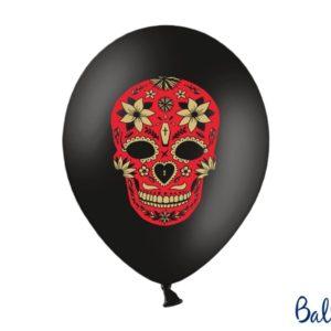 Halloween Balloons 30 cm, Dia de los Muertos, Pastel Black 6pcHalloween Balloons 30 cm, Dia de los Muertos, Pastel Black 6pc