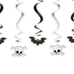 Swirls Bats and skulls, mix, 60cm 5pcSwirls Bats and skulls, mix, 60cm 5pc