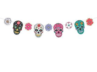 Garland Dia de Los Muertos - Masks, 1.2mGarland Dia de Los Muertos - Masks, 1.2m