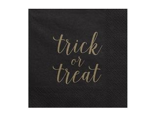 Napkins Trck or treat, black, 33x33cm 20pcNapkins Trck or treat, black, 33x33cm 20pc