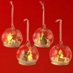 Decorative LED Bauble - Christmas Snow Scenes