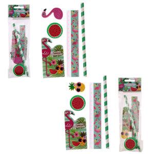 Cute Flamingo Design Stationery Set