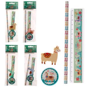 Cute Llama Design Stationery Set
