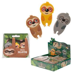 Cute Sloth Eraser Set of 3
