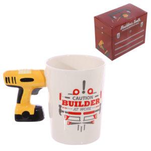 Novelty Shaped Handle Ceramic Tool Mug - Electric Drill