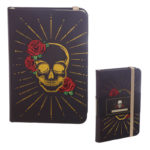 A6 Collectable Hardback Notebook - Black and Gold Skull