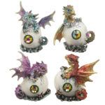Crystal Birth Fantasy Nightmare Dragon Figurine