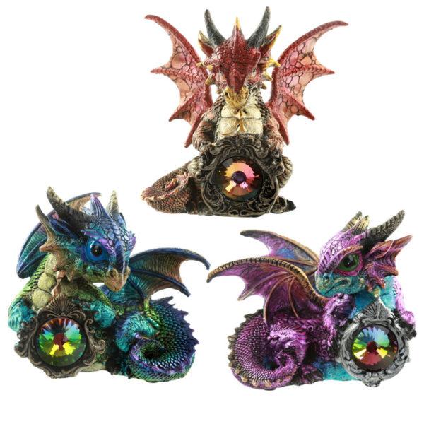 Crystal Protector Fantasy Nightmare Dragon Figurine