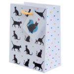 Cute Cat Design Small Glossy Gift Bag