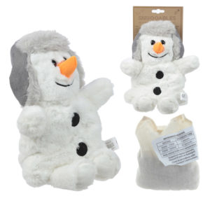 Cute Christmas Snowman Design Snuggables Microwavable Warmer