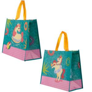Cute Tropical Unicorn Durable Reusable Shopping Bag