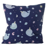Decorative Cushion with Insert - Cute Narwhal