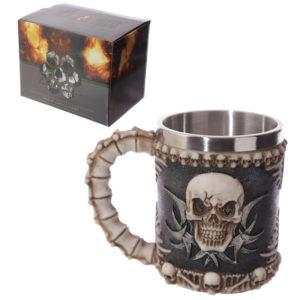 Decorative Fantasy Skull and Spine Tankard