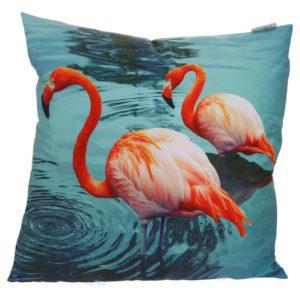 Decorative Flamingos Lake Cushion