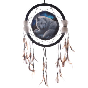 Decorative Guardian Wolf 33cm Dreamcatcher