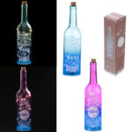 Decorative LED Glass Bottle Light – Fun Slogans
