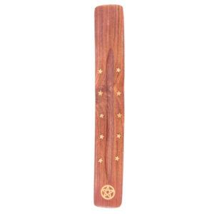 Decorative Sheesham Wood Ashcatcher with Pentagram