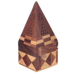 Decorative Sheesham Wood Pyramid Box