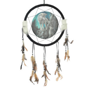 Decorative Wolf Design Dreamcatcher Medium
