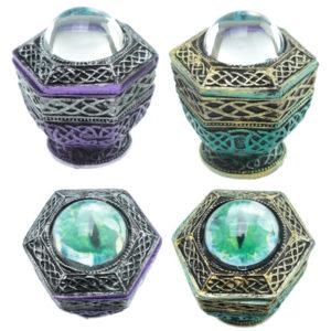 Dragon Eye Hexagonal Dark Legends Trinket Box