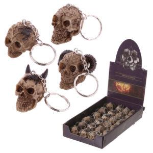 Fantasy Celtic Skull Head Key Chain