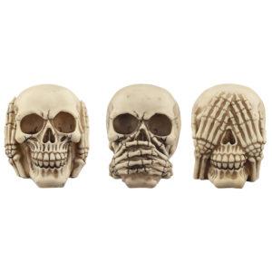 Fantasy Skull Set - See No Evil, Speak No Evil, Hear No Evil