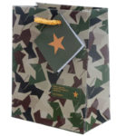 Fun Camouflage Design Small Glossy Gift Bag