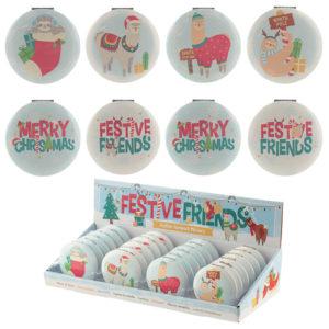 Fun Collectable Festive Animals Christmas Compact Mirror