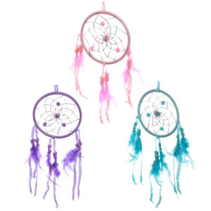 Fun Colourful Feathered Dreamcatcher 11cm
