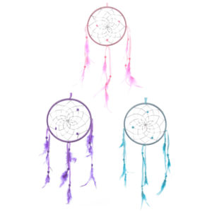 Fun Colourful Feathered Dreamcatcher 15.5cm