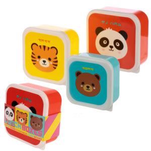 Fun Cutiemals Animal Design Set of 3 Plastic Lunch Boxes