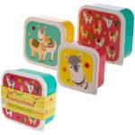 Fun Llama Design Set of 3 Plastic Lunch Boxes