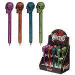 Fun Metallic Skull Novelty Pen