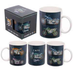 Fun Motorbike Design New Bone China Mug